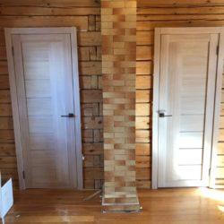 Монтаж межкомнатных дверей в деревянном доме