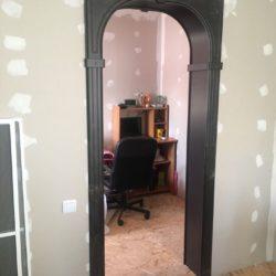 Монтаж арки во время ремонта